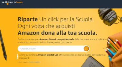 Al via la terza edizione di «Un click per la Scuola» di Amazon